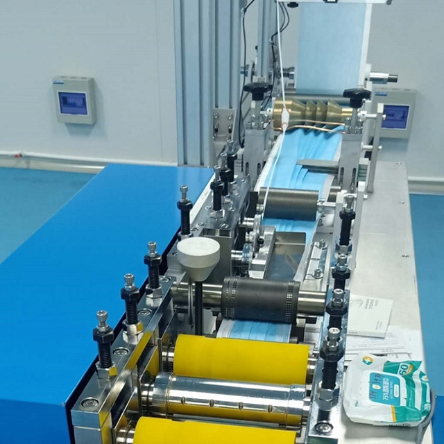 Semi-automatic plain face mask making machine